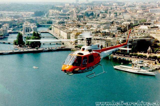 "The AS 350B2 Ecureuil HB-XVB in service with the ""Protection civile Genève"" (JB Schmid)"