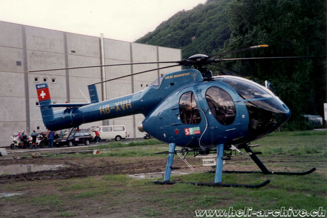 Bellinzona/TI, May 1995 - The MD 520N Notar HB-XVH in service with Robert Fuchs (M. Bazzani)