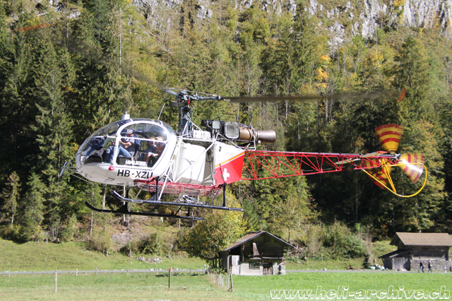 Lauterbrunnen/BE, October 2018 - The SA 315B Lama HB-XZU in service with Air Glaciers (M. Ceresa)