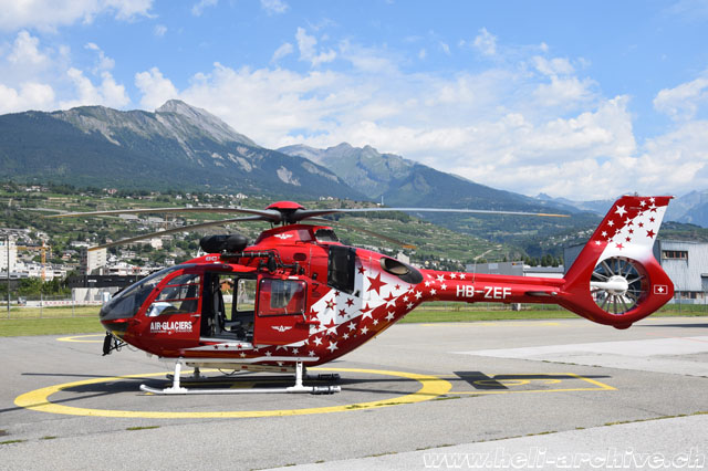 Sion/VS, August 2019 - The EC-135T3 HB-ZEF in service with Air Glaciers (M. Bazzani)