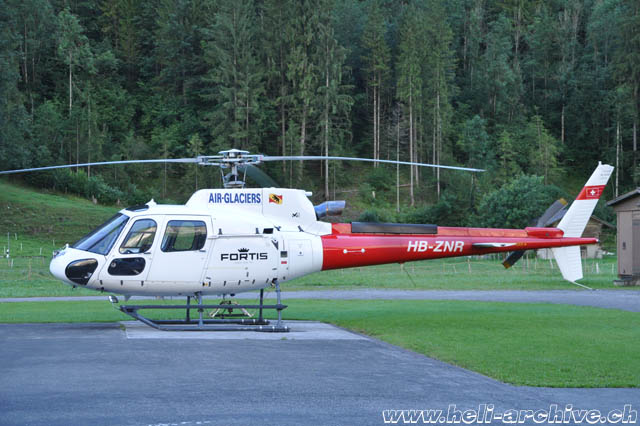 August 2017 - The AS 350B3e Ecureuil HB-ZNR in service with Air Glaciers (T. Schmid)
