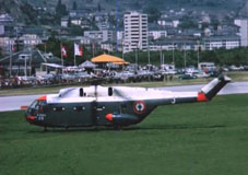 The SA 321 Super Frelon F-ZWWJ in Sion