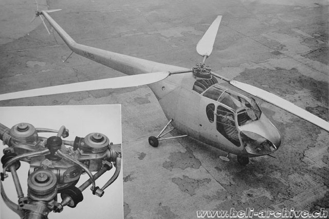 1947 - Detail of the main rotor head (HAB - brochure Bristol)