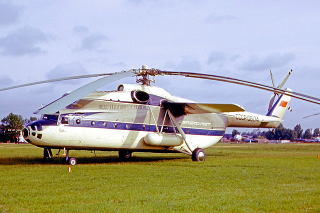 June 1965 - The Mil Mi-6 CCCP-06174 photographed during the Paris Airshow (R. A. Scholefield)