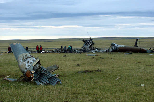 The wreckage of the Mil Mi-6 RA-21074 (http://www.airdisaster.ru)