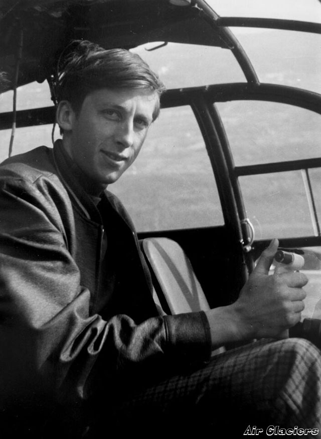 Jean-Pierre Allet (1945 - 1968) at the controls of a SE 3160 Alouette III (archive Air Glaciers)
