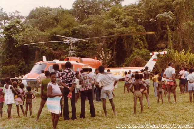 Jean-Pierre Füllemann was employed in Suriname where he piloted the Agusta-Bell 204B HB-XCG (archive P. Füllemann)