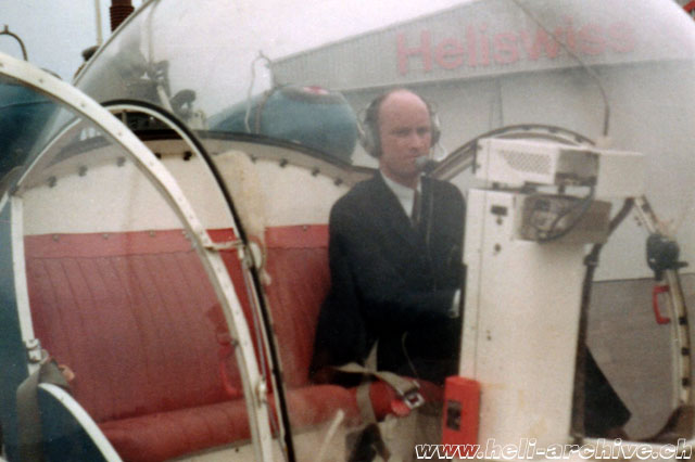 Belp/BE, March 1972 - At the controls of a Bell 47G2 (JB Schmid)
