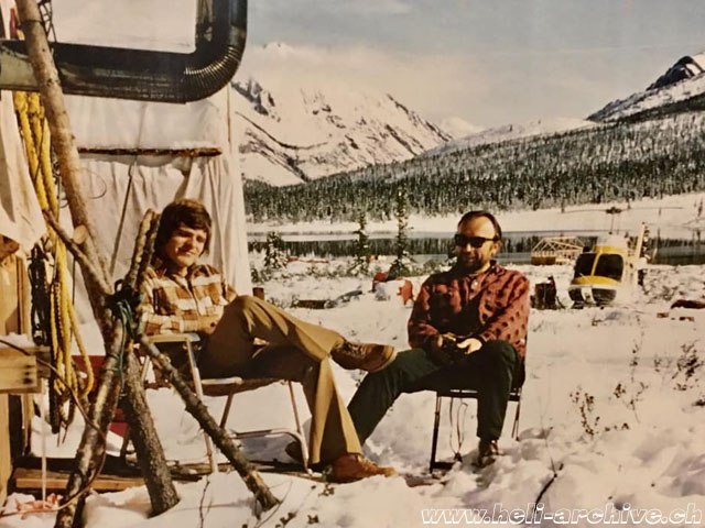 Canada 1970 - Bernd Van Doornick enjoys a moment of relax with a friend (archive BVD)