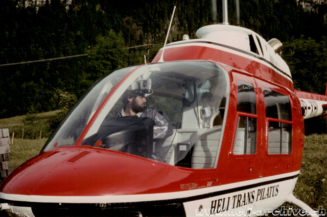 At the controls of the Agusta-Bell 206B Jet Ranger III HB-XHI in service with Heli-Trans Pilatus (family von Wyl)