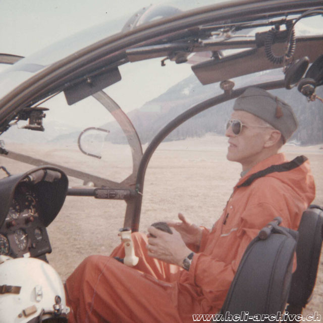 April 1964 - Werner Donau at the controls of a SE 3130 Alouette II in service with the Swiss Army (family Donau)