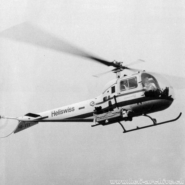 1965 - Werner Donau with the Agusta-Bell 47J3B-1 HB-XBX in service with Heliswiss (family Donau)